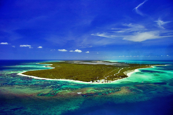 Aerial view of Anegada