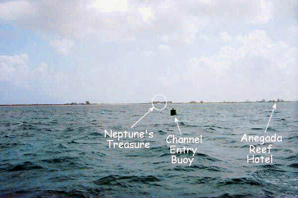 At the Anegada channel entry