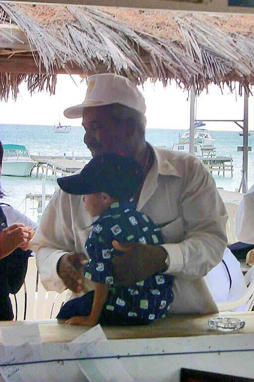 Lowell with grandson Lawrence, June 15, 2002