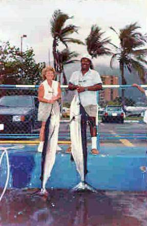 Sue and Lowell with marlins
