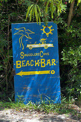 Smugglers Cove Beach Bar Sign