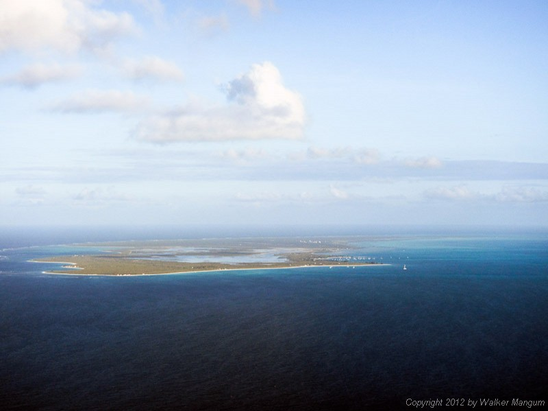 Approaching Anegada from the west