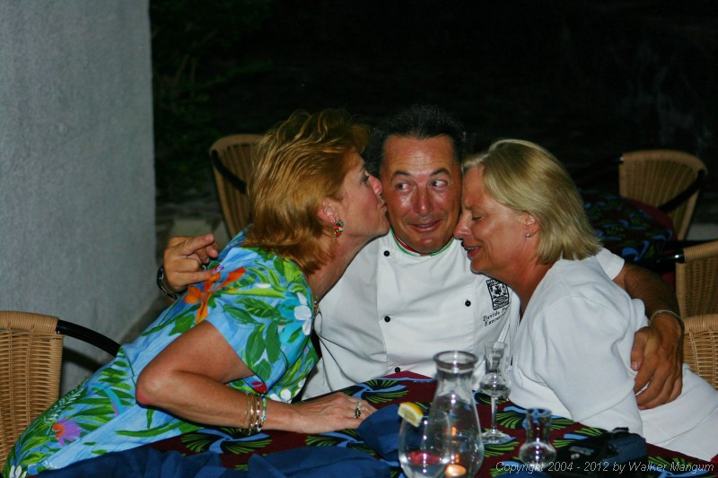 The look on his face tells me that Davide just hates this. Nancy and Davide with Donna Nelson.